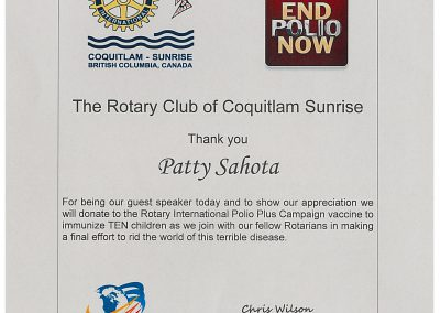 Rotary Club of Coquitlam Sunrise
